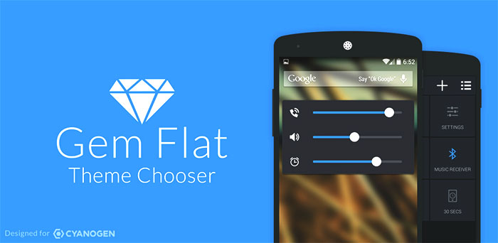 1 Gem Flat Theme for cyanogenmod 11