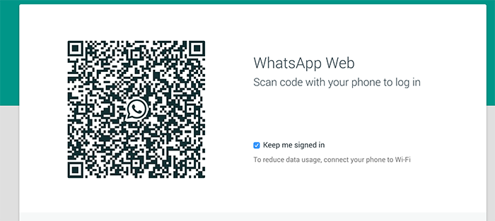 QR Code Web Version of Whatsapp