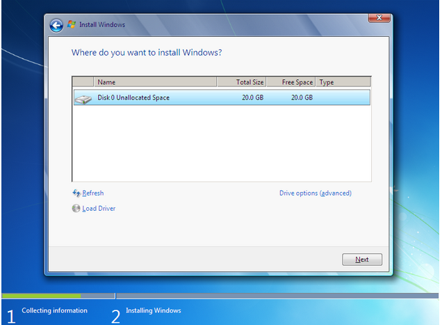 how to install windows 7 - 7