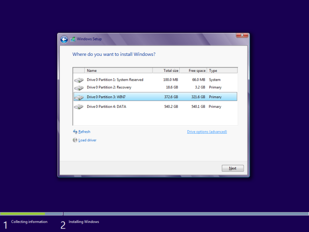 how to install windows 8 - 7