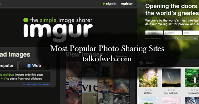 List of Most Popular Photo Sharing Sites - 8 Sites to Get