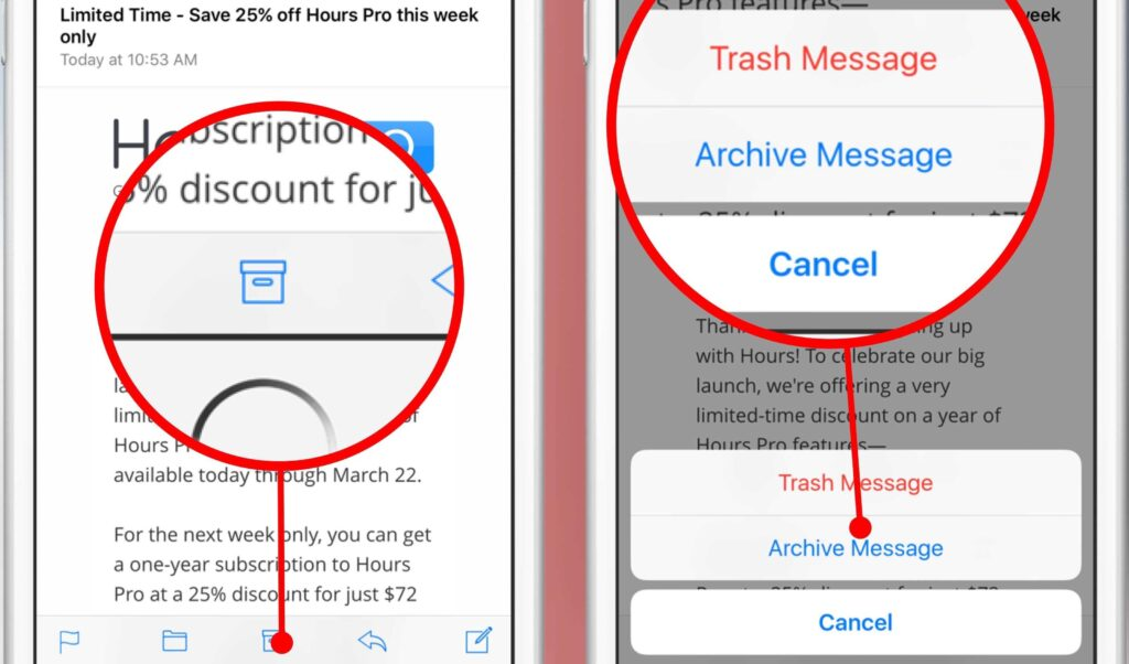 mail-archive-trash-single-message